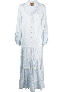 Alessia Santi Vestido Godê Com Estampa De Logo - Branco
