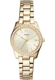 Relógio Fossil Feminino Ladies Scarlette - Es4374/1Dn Es4374/1Dn - Feminino-Dourado