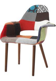 Cadeira Antonia Polipropileno Patchwork Linho Marrom - 26342 - Sun House