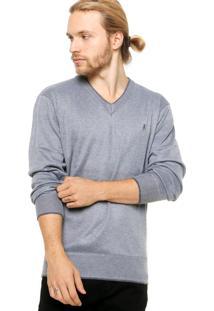 Suéter Polo Club Basic Cinza