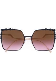 Fendi Eyewear Óculos De Sol 'Can Eye' - Preto