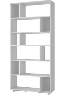 Livreiro Estante Para Livros Branco Brv Móveis Be44