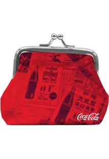 Porta-Moedas Urban Coca-Cola Newspaper - Vermelho