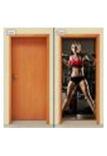Adesivo Decorativo De Porta - Academia - Fitness - 1159Cnpt