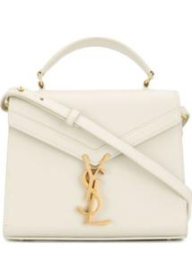 Saint Laurent Cassandra Top-Handle Bag - Branco