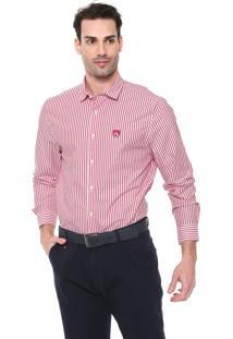 Camisa Mr Kitsch Reta Listrada Vermelha/Branca