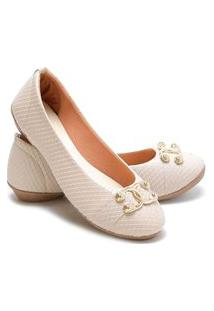Sapatilha Estilo Shoes Casual Ga710 Bege Escamada