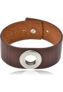 Bracelete Boca Santa Semijoias Em Marrom E Aã§O Inox - Marrom - Dafiti