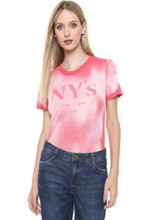 Blusa Calvin Klein Jeans Ny'S Coral