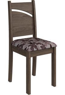 Cadeira Melissa Floral Bordô Marrocos