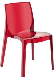 Cadeira Femme Fatale- Vermelha- 81,2X51,5X41Cm- Or Design