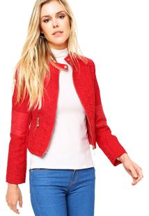 Jaqueta Mooncity Collection Vermelha
