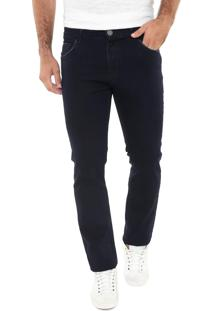 Calça Jeans Mr Kitsch Reta Básica Azul-Marinho