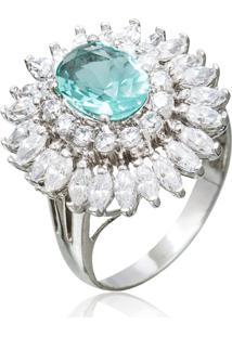 Anel Le Diamond Agua Marinha Azul