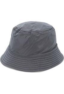 Mcq Chapéu Bucket Com Patch De Logo - Cinza