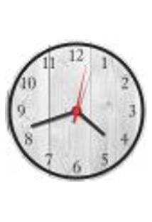 Relógio De Parede Madeira Rústico Cinza Decorações Salas Cozinhas Gourmet
