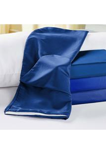 Capa De Travesseiro Rafaela Azul Royal Enxovais Aquarela