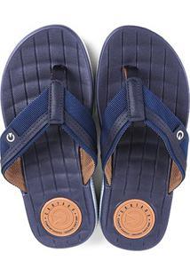Chinelo Cartago Napóles Dedo Masculino - Masculino-Azul Escuro