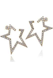 Brinco Stardust Diamante Amarelo C/ Diamante Ttlb - U