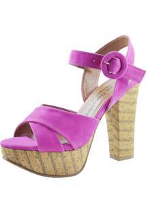 Sandália Pri Gonçalves Meia-Pata Nobuck Pink