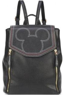 Bolsa Mochila Disney Luxcel Mickey Bmk78457 Feminina - Feminino-Preto