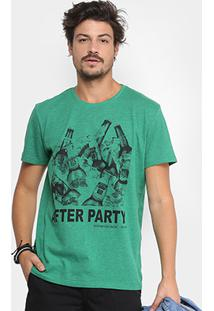 Camiseta Triton Estampada After Party Masculina - Masculino-Verde