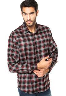 Camisa Forum Bordado Xadrez
