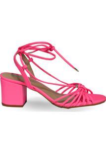 Sandália De Amarração Ana Pink