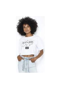 T-Shirt Boxy Branco Branco