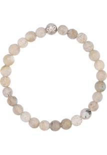 Nialaya Jewelry Faceted Bead Bracelet - Cinza
