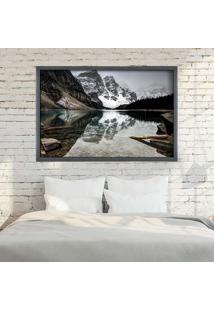 Quadro Love Decor Com Moldura Alpes Suíços Grafitti Metalizado Grande