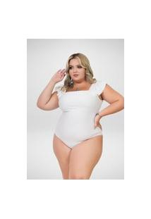 Body Seduzzy Plus Size Branco