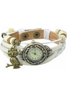 Relógio Decovian Analógico Branco