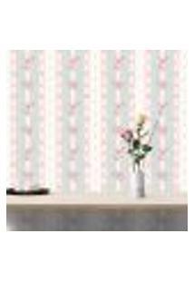 Papel De Parede Autocolante Rolo 0,58 X 5M - Rosas Bolinhas Listrado 202982914