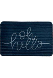 Capacho Carpet Oh Hello Azul Único Love Decor