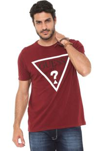 Camiseta Guess Estampada Bordô