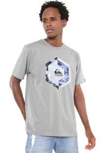 Camiseta Quiksilver Heat Stroke Cinza