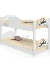 Beliche Infantil Patrulha Ursinhos Casah - Branco/Multicolorido - Dafiti