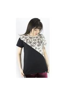 Camiseta Anjuss Estampada Bege