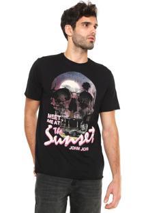 Camiseta John John Skull Sun Preta