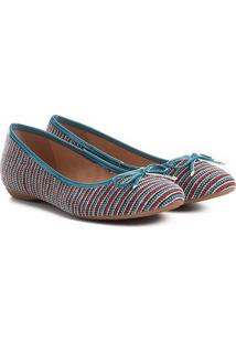 Sapatilha Shoestock Bico Redondo Laço Feminina - Feminino