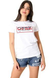 Camiseta Oprk Authentic Feminina - Feminino-Branco