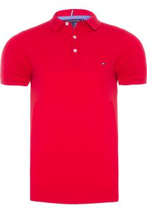 Polo Masculina Slim - Vermelho