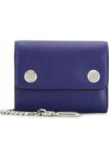 Mulberry Carteira Heavy Grain - Azul