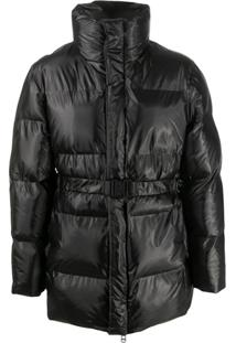 Rains Belted Puffer Jacket - Preto