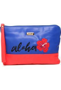 Clutch Santa Lolla Aloha Azul