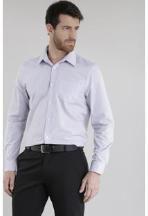 Camisa Social Comfort Lilás
