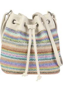 Bolsa Saco Feminina Com Colorido Geométrico