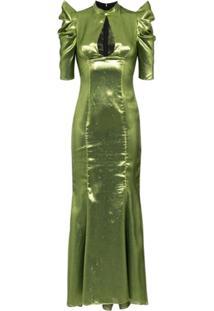 De La Vali Vestido Longo Audrey - Verde