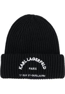 Karl Lagerfeld Gorro Rue St Guillaume - Preto